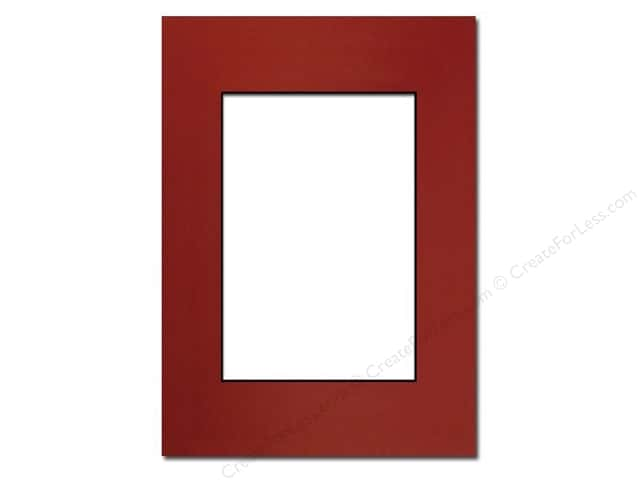 Pre-cut Photo Mat Board by Accent Design Black Core 5 x 7 in. for 3 1/2 x 5 in. Photo Deep Red