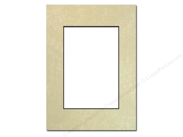 PA Framing Pre-cut Photo Mat Board Black Core 5 x 7 in. for 3 1/2 x 5 in. Photo Crystal Marble