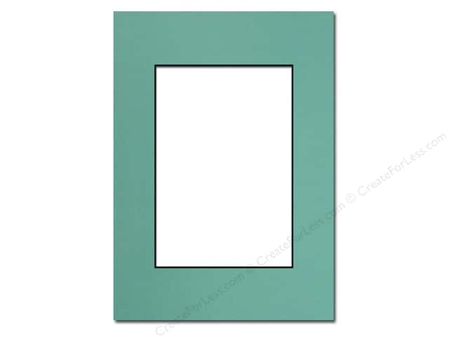 PA Framing Pre-cut Photo Mat Board Black Core 5 x 7 in. for 3 1/2 x 5 in. Photo Aquamarine