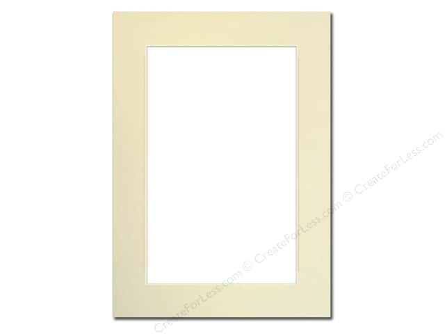 Pre-cut Photo Mat Board by Accent Design Cream Core 5 x 7 in. for 4 x 6 in. Photo Ivory