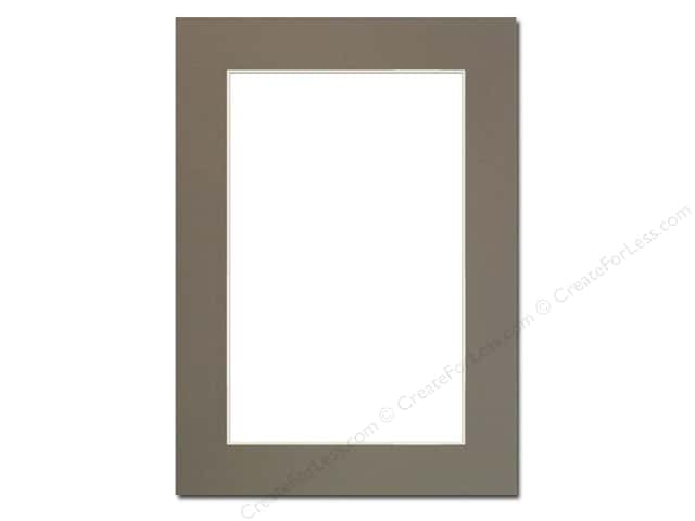 Pre-cut Photo Mat Board by Accent Design Cream Core 5 x 7 in. for 4 x 6 in. Photo Cobblestone