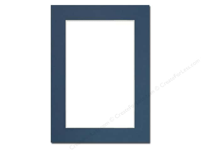 Pre-cut Photo Mat Board by Accent Design Cream Core 5 x 7 in. for 4 x 6 in. Photo Bottle Blue