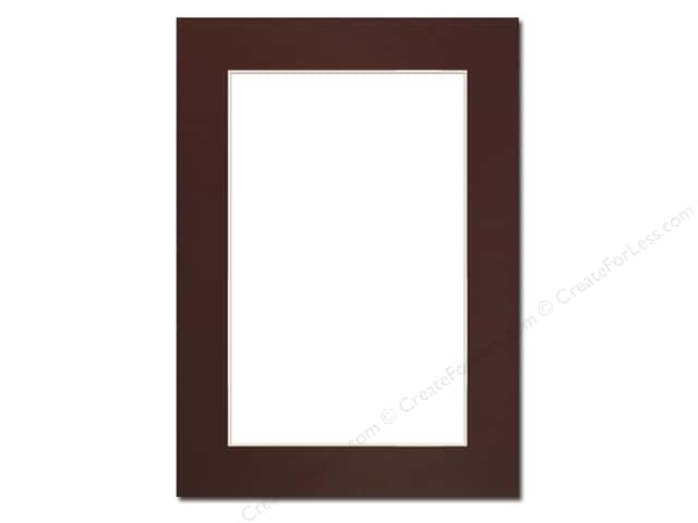 Pre-cut Photo Mat Board by Accent Design Cream Core 5 x 7 in. for 4 x 6 in. Photo Maroon