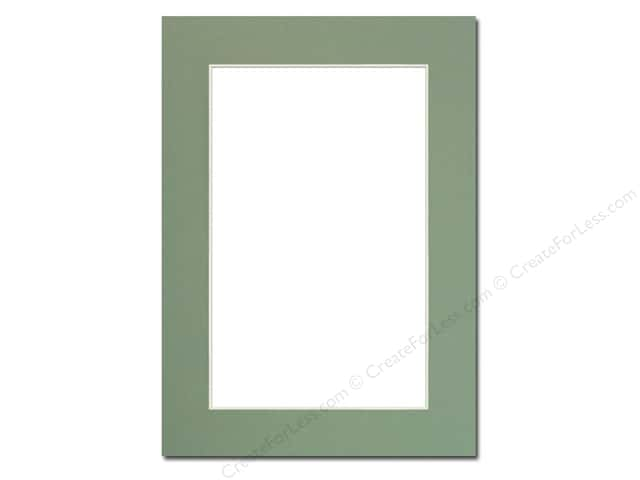 Pre-cut Photo Mat Board by Accent Design Cream Core 5 x 7 in. for 4 x 6 in. Photo Sea Foam