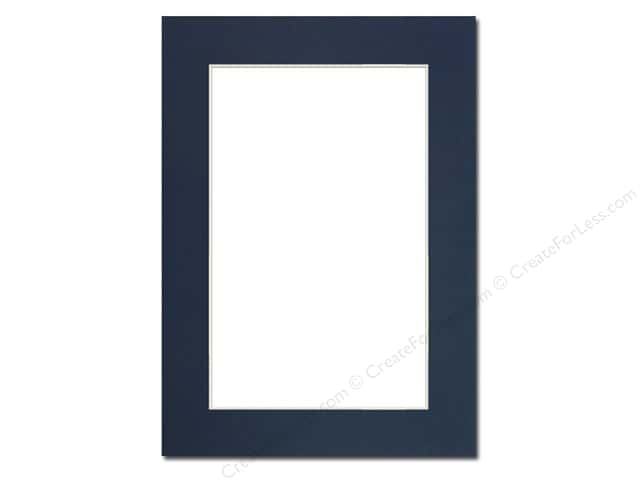 Pre-cut Photo Mat Board by Accent Design Cream Core 5 x 7 in. for 4 x 6 in. Photo Yorktown Blue