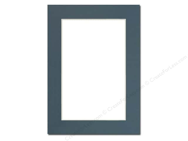Pre-cut Photo Mat Board by Accent Design Cream Core 5 x 7 in. for 4 x 6 in. Photo Antique Blue