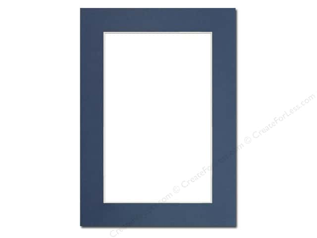 PA Framing Pre-cut Photo Mat Board Cream Core 5 x 7 in. for 4 x 6 in. Photo Bay Blue