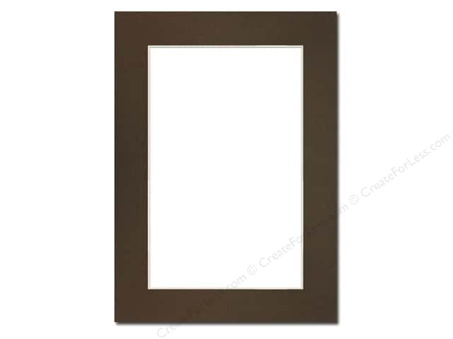 Pre-cut Photo Mat Board by Accent Design Cream Core 5 x 7 in. for 4 x 6 in. Photo Cappuccino