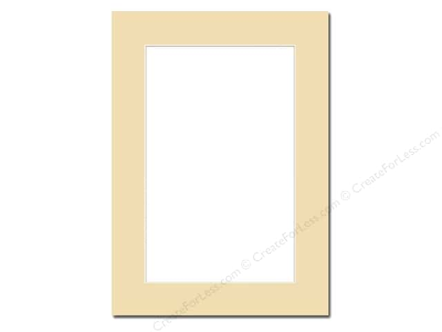PA Framing Pre-cut Photo Mat Board Cream Core 5 x 7 in. for 4 x 6 in. Photo Beige