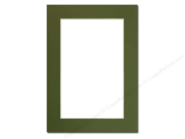 Pre-cut Photo Mat Board by Accent Design Cream Core 5 x 7 in. for 4 x 6 in. Photo Dill