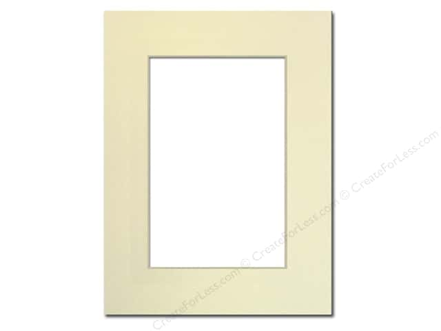 Pre-cut Photo Mat Board by Accent Design Cream Core 9 x 12 in. for 6 x 9 in. Photo Ivory