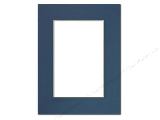 Pre-cut Photo Mat Board by Accent Design Cream Core 9 x 12 in. for 6 x 9 in. Photo Bottle Blue