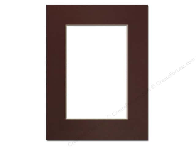 Pre-cut Photo Mat Board by Accent Design Cream Core 9 x 12 in. for 6 x 9 in. Photo Maroon