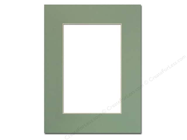 Pre-cut Photo Mat Board by Accent Design Cream Core 9 x 12 in. for 6 x 9 in. Photo Sea Foam