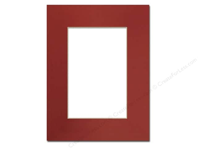 Pre-cut Photo Mat Board by Accent Design Cream Core 9 x 12 in. for 6 x 9 in. Photo Deep Red