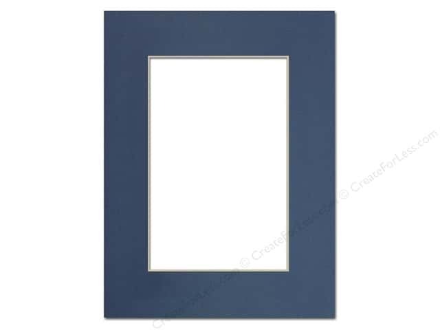 Pre-cut Photo Mat Board by Accent Design Cream Core 9 x 12 in. for 6 x 9 in. Photo Bay Blue