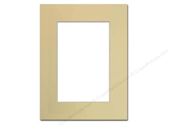 PA Framing Pre-cut Photo Mat Board Cream Core 9 x 12 in. for 6 x 9 in. Photo Beach