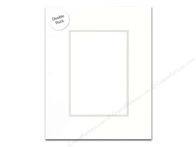 Pre-cut Double Thick Gallery Photo Mat Board by Accent Design White Core 8 x 10 in. for 5 x 7 in. Photo White