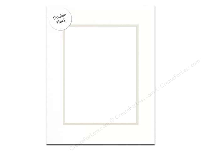Pre-cut Double Thick Gallery Photo Mat Board by Accent Design White Core 5 x 7 in. for 3 1/2 x 5 in. Photo White