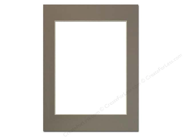 Pre-cut Photo Mat Board by Accent Design Cream Core 12 x 16 in. for 9 x 12 in. Photo Cobblestone