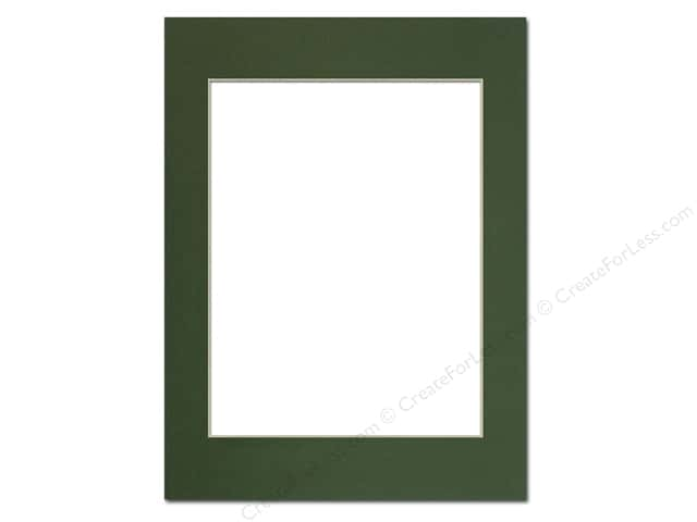 Pre-cut Photo Mat Board by Accent Design Cream Core 12 x 16 in. for 9 x 12 in. Photo Hunter Green