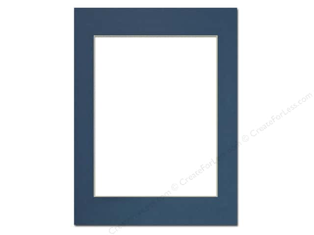 Pre-cut Photo Mat Board by Accent Design Cream Core 12 x 16 in. for 9 x 12 in. Photo Bottle Blue