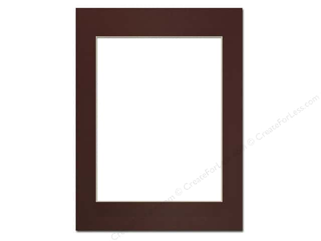 Pre-cut Photo Mat Board by Accent Design Cream Core 12 x 16 in. for 9 x 12 in. Photo Maroon