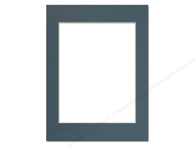 PA Framing Pre-cut Photo Mat Board Cream Core 12 x 16 in. for 9 x 12 in. Photo Antique Blue