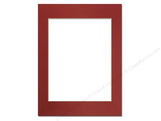 Pre-cut Photo Mat Board by Accent Design Cream Core 12 x 16 in. for 9 x 12 in. Photo Deep Red