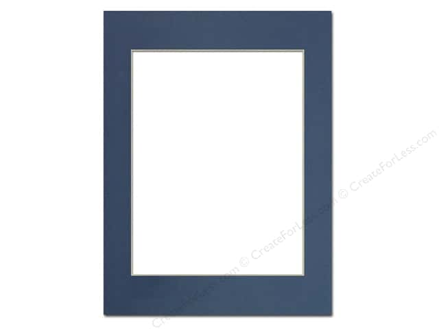 Pre-cut Photo Mat Board by Accent Design Cream Core 12 x 16 in. for 9 x 12 in. Photo Bay Blue