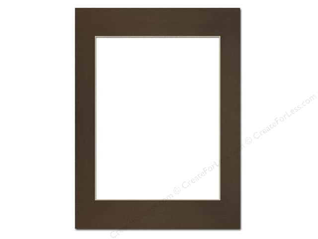 Pre-cut Photo Mat Board by Accent Design Cream Core 12 x 16 in. for 9 x 12 in. Photo Cappuccino