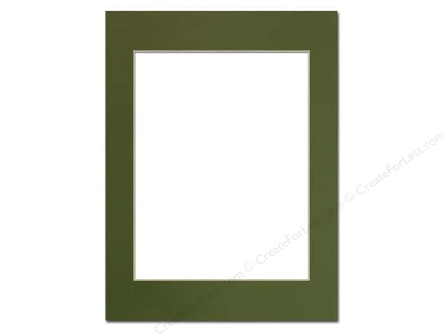 Pre-cut Photo Mat Board by Accent Design Cream Core 12 x 16 in. for 9 x 12 in. Photo Dill