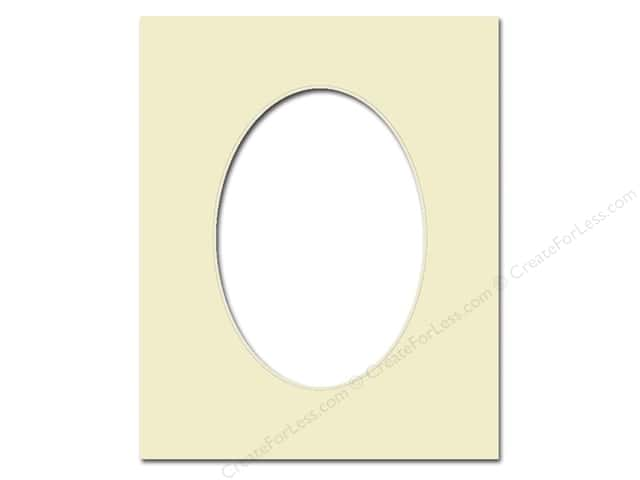 Pre-cut Oval Photo Mat Board by Accent Design Cream Core 11 x 14 in. for 8 x 10 in. Photo Ivory