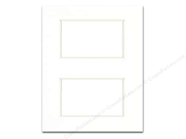 PA Framing Pre-cut Double Thick Gallery Photo Mat Board White Core 8 x 10 in. White with 2 Openings