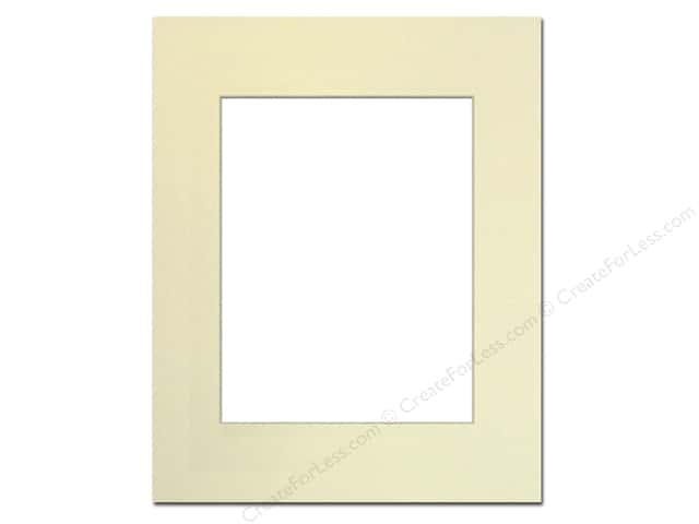 Pre-cut Photo Mat Board by Accent Design Cream Core 16 x 20 in. for 11 x 14 in. Photo Ivory