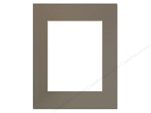 Pre-cut Photo Mat Board by Accent Design Cream Core 16 x 20 in. for 11 x 14 in. Photo Cobblestone