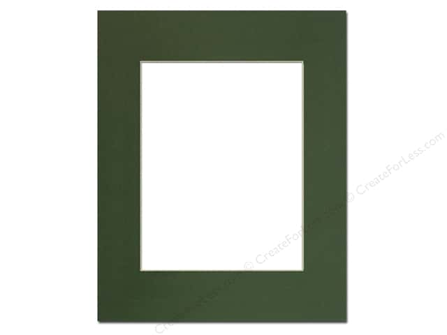 PA Framing Pre-cut Photo Mat Board Cream Core 16 x 20 in. for 11 x 14 in. Photo Hunter Green