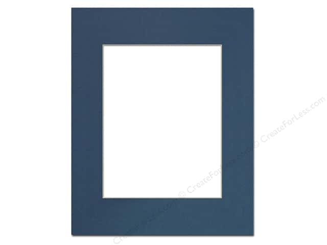 Pre-cut Photo Mat Board by Accent Design Cream Core 16 x 20 in. for 11 x 14 in. Photo Bottle Blue