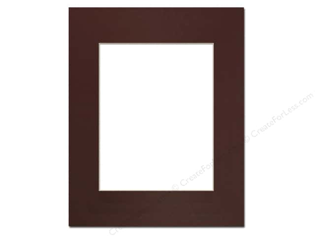 Pre-cut Photo Mat Board by Accent Design Cream Core 16 x 20 in. for 11 x 14 in. Photo Maroon