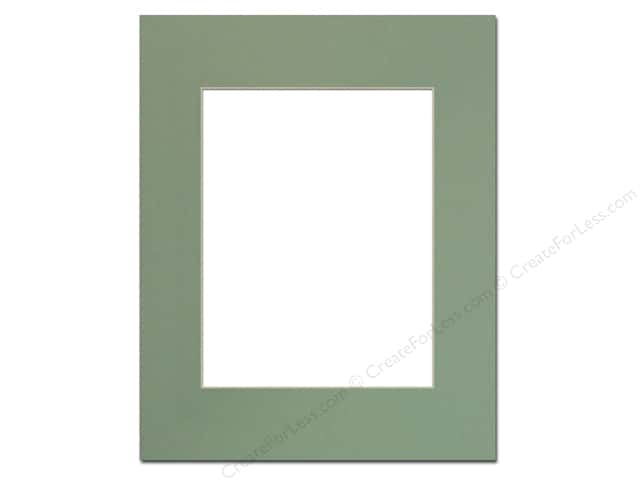Pre-cut Photo Mat Board by Accent Design Cream Core 16 x 20 in. for 11 x 14 in. Photo Sea Foam