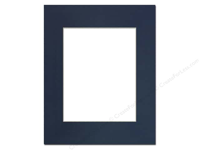 PA Framing Pre-cut Photo Mat Board Cream Core 16 x 20 in. for 11 x 14 in. Photo Yorktown Blue