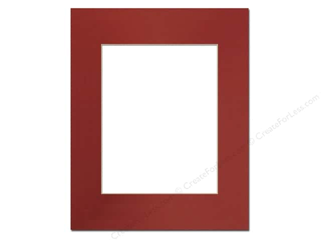 PA Framing Pre-cut Photo Mat Board Cream Core 16 x 20 in. for 11 x 14 in. Photo Deep Red