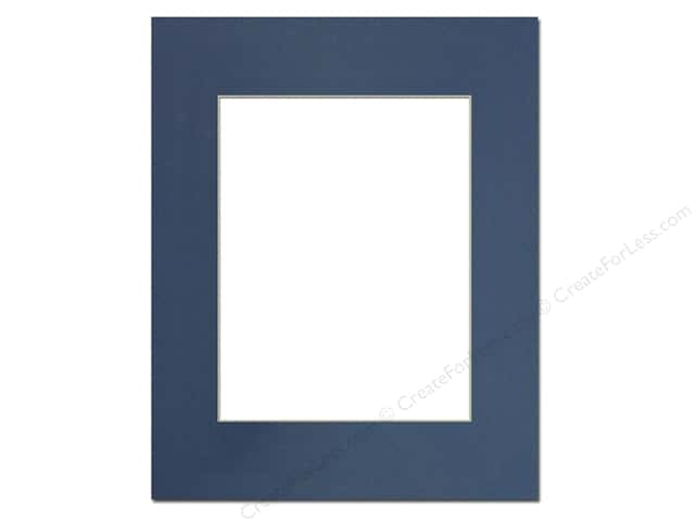 PA Framing Pre-cut Photo Mat Board Cream Core 16 x 20 in. for 11 x 14 in. Photo Bay Blue