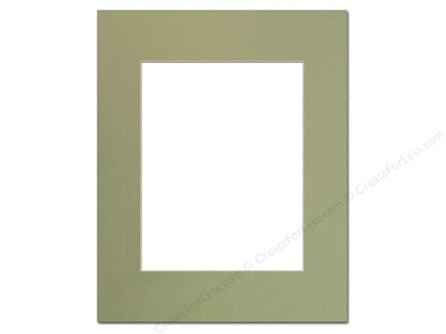 Pre-cut Photo Mat Board by Accent Design Cream Core 16 x 20 in. for 11 x 14 in. Photo Moss
