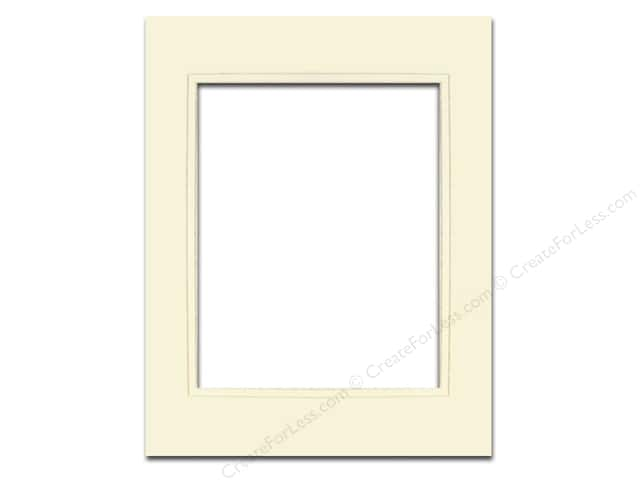 Pre-cut Double Photo Mat Board by Accent Design Cream Core 11 x 14 in. for 8 x 10 in. Photo Ivory/Ivory
