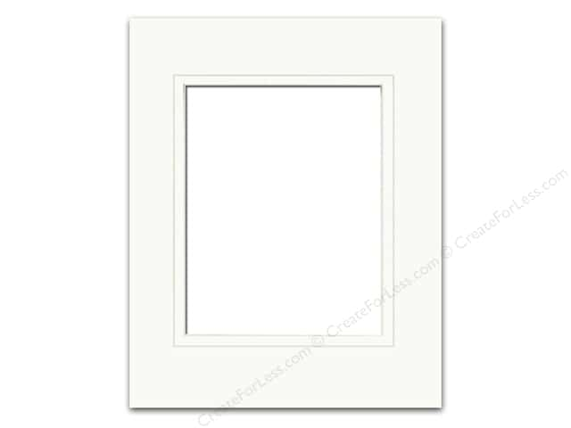 Pre-cut Double Photo Mat Board by Accent Design Cream Core 16 x 20 in. for 11 x 14 in. Photo White/White