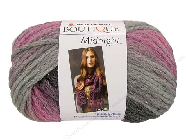 Knitting Patterns For Red Heart Boutique Midnight : Red Heart Boutique Midnight Yarn #1945 Shadow 153 yd ...