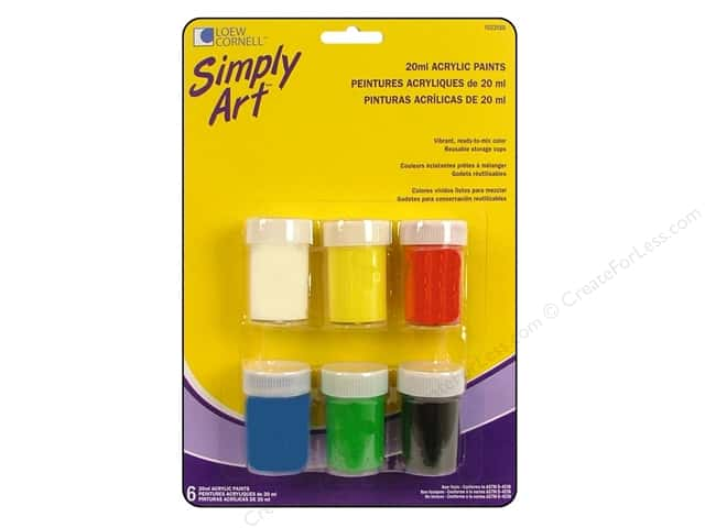Loew Cornell Simply Art Acrylic in Storage Cup 6pc