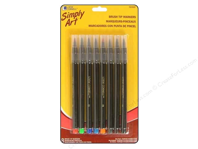 Loew Cornell Simply Art Brush Tip Markers 8pc