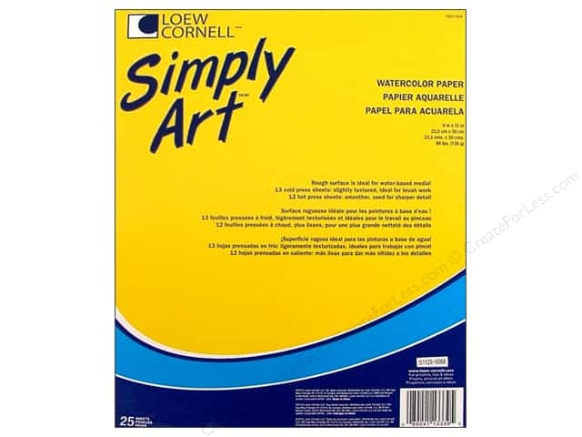 Loew Cornell Simply Art Watercolor Paper Pad 25sht